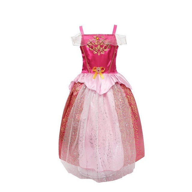 Toddler Girls Princess Fairy Tale Costume Party Rapunzel Cosplay Fancy Dress