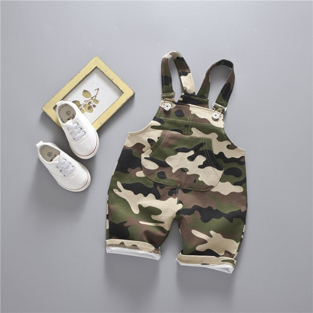 Denim Overalls Kids 2017 Summer Button Fly Army Toddler Girl Overalls Short Baby Boy Jumpsuits Jeans Children Overalls Clothing
