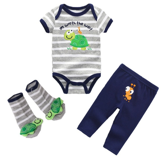 Baby Boys&Girls Bodysuits Sets Short Sleeve O Neck Clothing 6 12M Jumpsuit