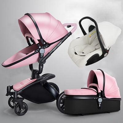 Luxury 3 in 1 Baby stroller Brand baby EU safety Car Seat Bassinet newborn Aulongift