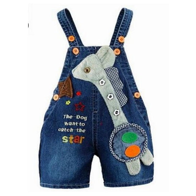 1 2 3 4T Baby Clothing Boys Girls Jeans Overalls Shorts Toddler Kids Denim