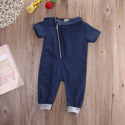Boys and Girls Jumpsuit Baby Denim Jumpsuit Romper