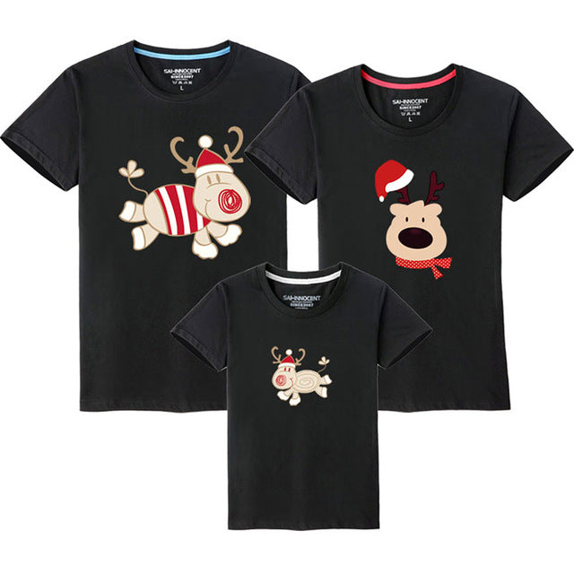 4634e9c0 Family Look Christmas Family Matching Outfits T Shirt Mother Daughter Short  Sleeve Dad Mom Baby Family