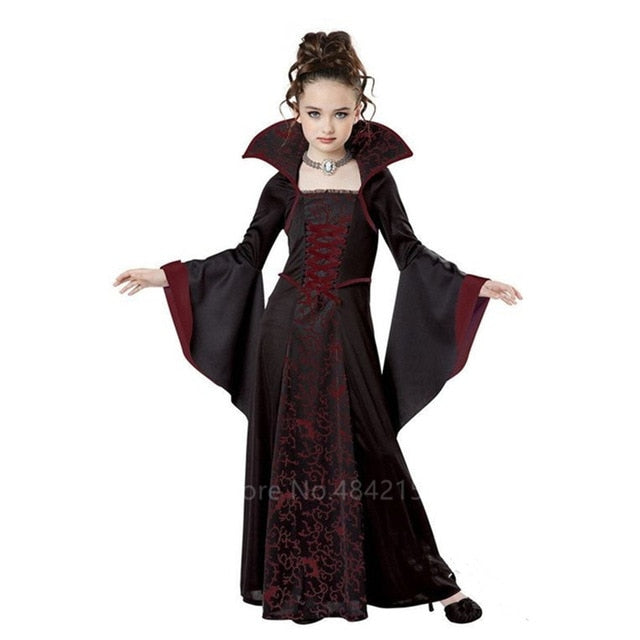 Halloween Costumes for Kids Girls Medieval Vintage Court Princess Witch