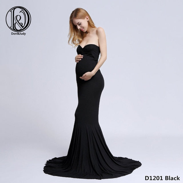 94143a0e613 D J Cotton Maternity Dress Maxi Long Maternity Gown Dresses Cloth for  Pregnant Women MATERNITY PHOTOGRAPHY PROP