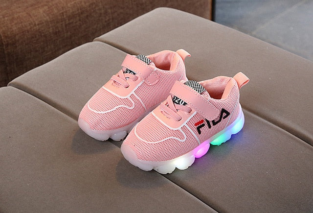 2018 1 to 5 years old Baby Boys and Girls Casual Shoes Newborn Sneakers Infant Fashion LED lights