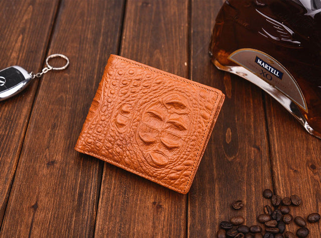 Crocodile Skin Wallet Men Genuine Leather Short Wallets For Male Credit Card Holders Coin Pocket Purse Alligator Small Purse