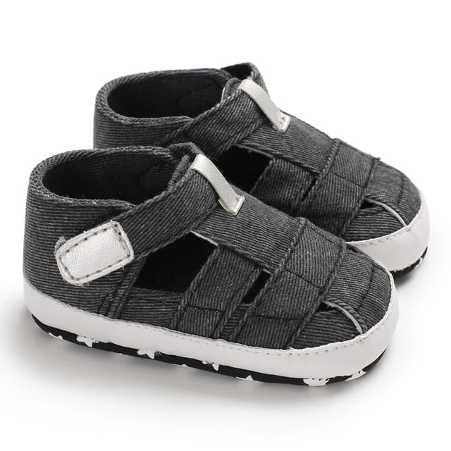 Newborn Baby Boys Fashion Summer Soft Crib Shoes Children Anti Slip