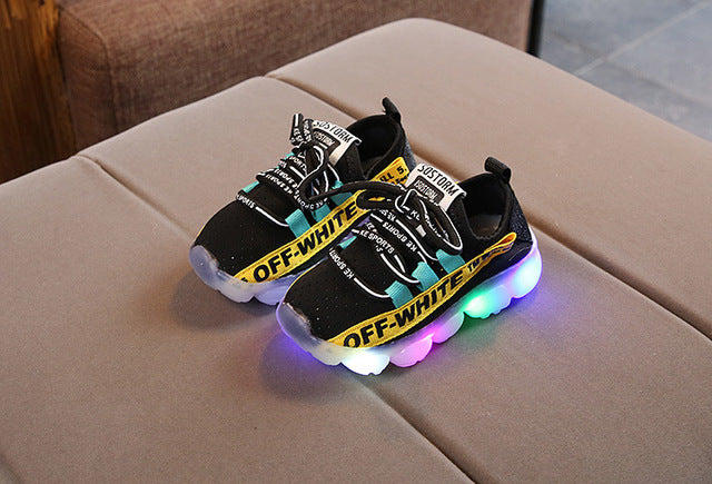 2018 LED lights up autumn kids sneakers 1 to 5 years old baby boys girls casual shoes