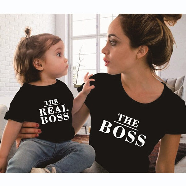 Family Matching Outfits Mother And Daughter Printed Cotton T Shirt