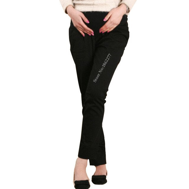 Maternity Pants Cotton Elastic Hight Waist Trouser for Women Pregnancy Office Working Bottom Clothes S-3/5XL