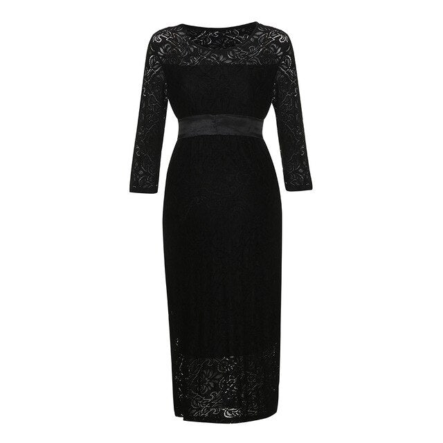Sexy Maternity Clothing Women Half Sleeve Lace Pregnants Dress Elegant Solid Color Maternity Dress