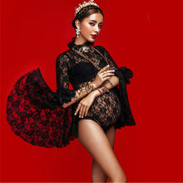 Sexy Lace Maternity Dresses For Photo Shoot Pregnancy Dress Vestidos For Pregnant Women