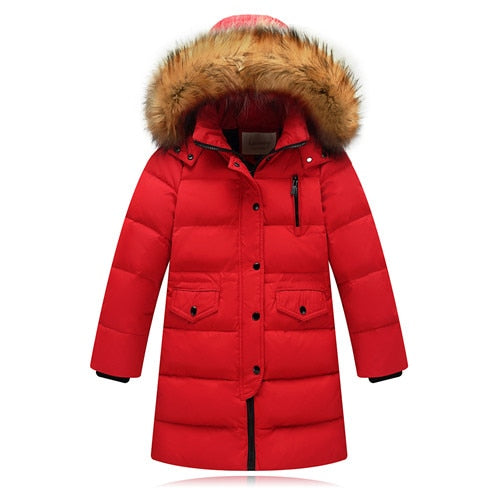 30 Russia Children Winter Down Jackets Kids Thicken Warm Long Outerwear For Toddler Boys Girls 2 14 Y Parka Coat