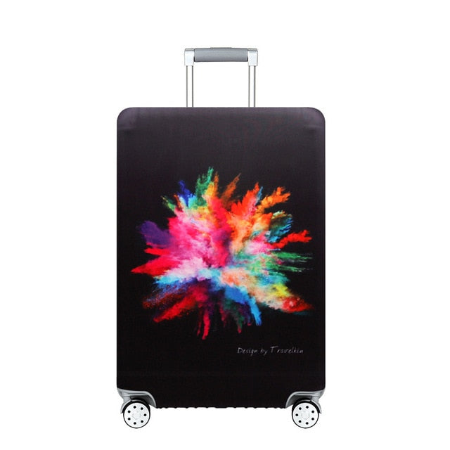 World Map Travel Luggage Suitcase Protective Cover Trolley Men's Women's