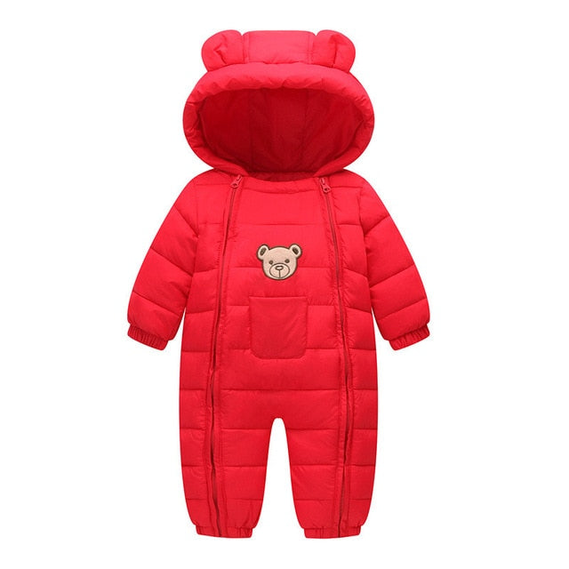 new born Baby rompers boy girl Winter Snow Wear Thick Warm Clothes