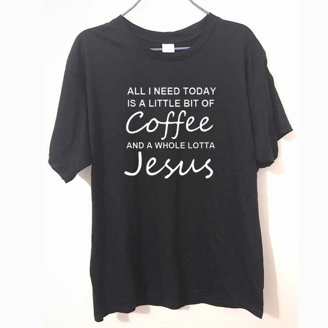 Coffee & Jesus T-Shirt For Men