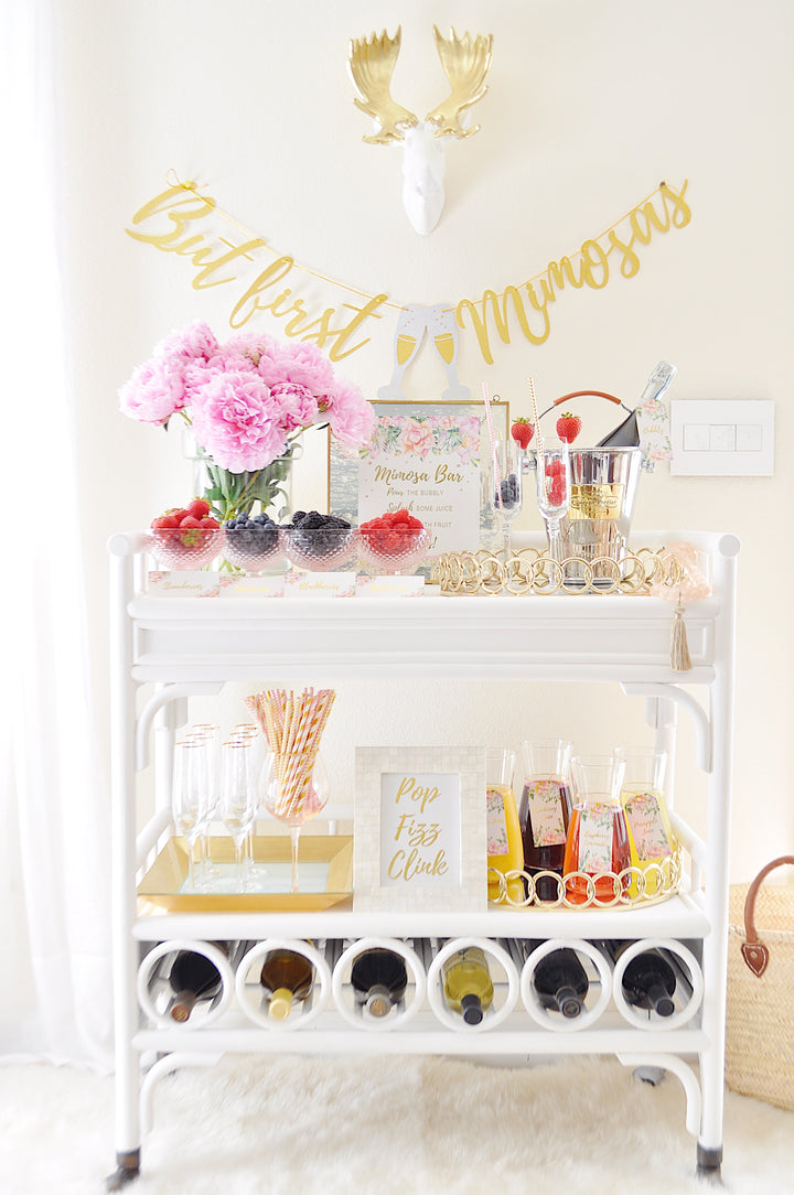 How to Make a Bridal Shower Mimosa Bar