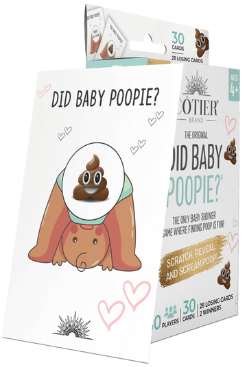 Did Baby Poopie?® Baby Shower Poop Emoji Lottery Game - Brown Baby Edition - CÔTIER BRAND