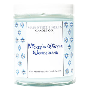 MICKEY'S WINTER WONDERLAND Disney Candle 9oz