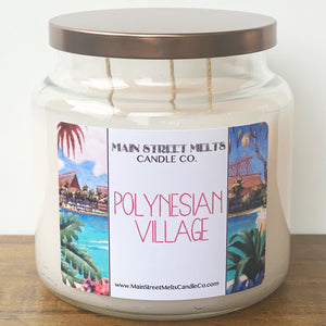 POLYNESIAN VILLAGE Disney Candle 18oz