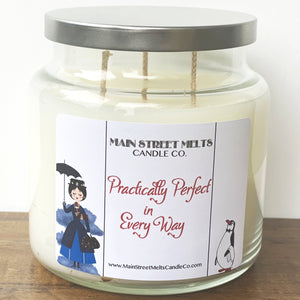 PRACTICALLY PERFECT IN EVERY WAY Disney Candle 18oz