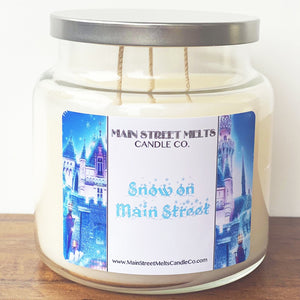 SNOW ON MAIN STREET Disney Candle 18oz