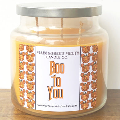 BOO TO YOU Disney Candle 18oz