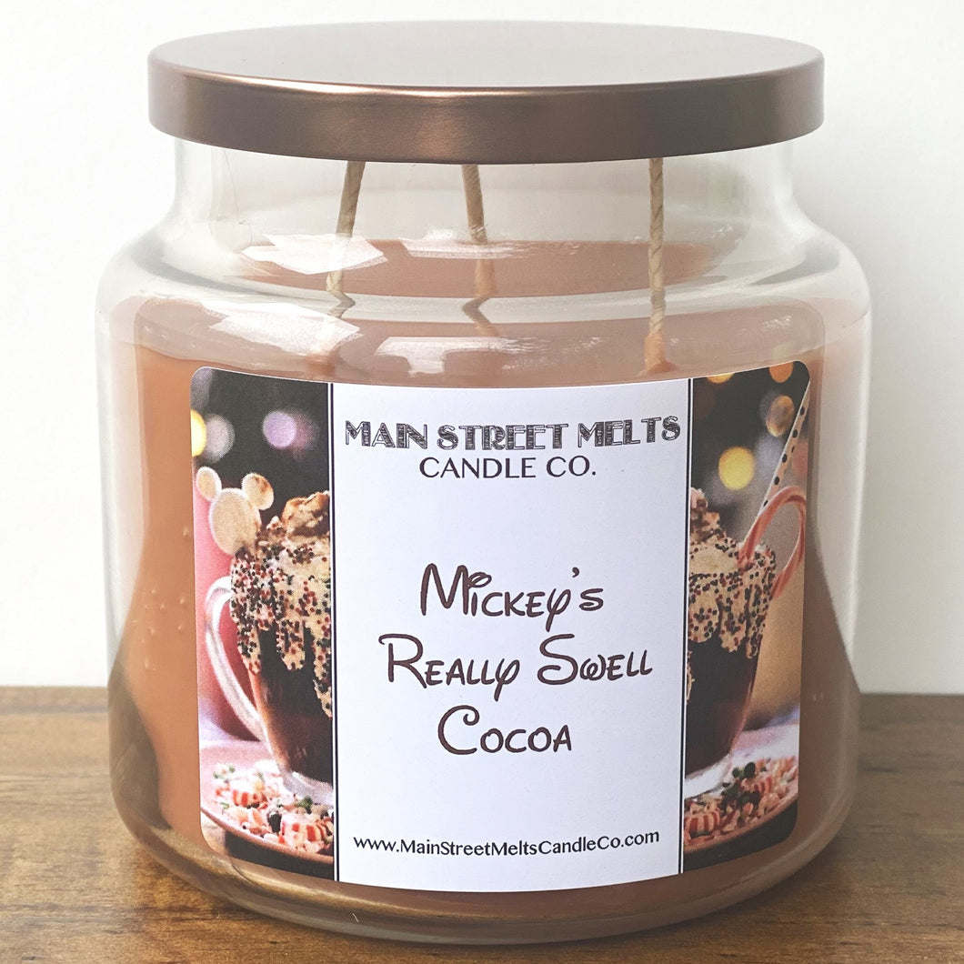 MICKEY'S REALLY SWELL COCOA Disney Candle 18oz