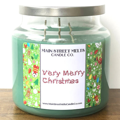 VERY MERRY CHRISTMAS Disney Candle 18oz