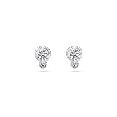 Mini Double Diamond Earrings