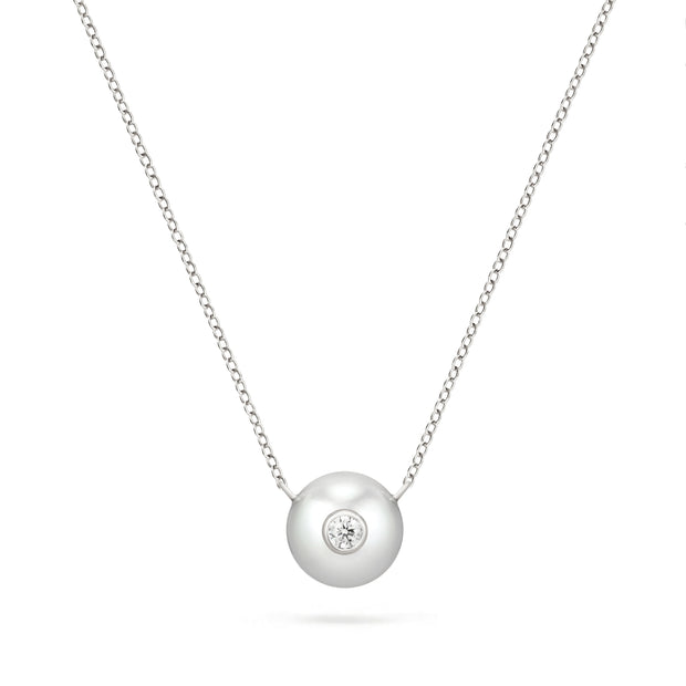 Ocean Annie Pearl & Diamond Necklace