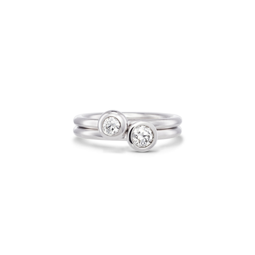 Small Diamond Stack Ring