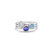 Blue Sapphire Stack Ring