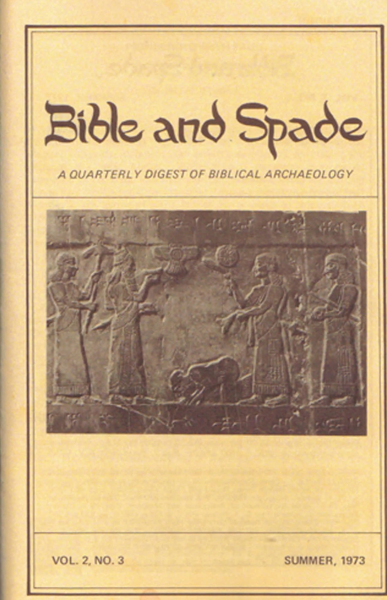 Four issues of BIBLE and SPADE produced in 1973