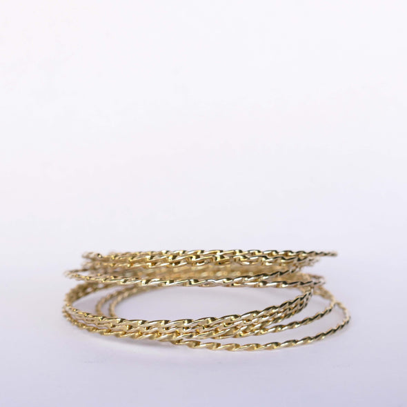Twisted Bangles - Set of 3