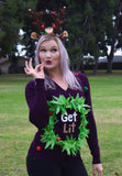 Get Lit Sweater with LED Lights | Ugly Christmas Sweater