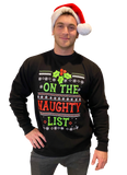 Mens Ugly Christmas Sweater: On the Naughty List Christmas Sweater
