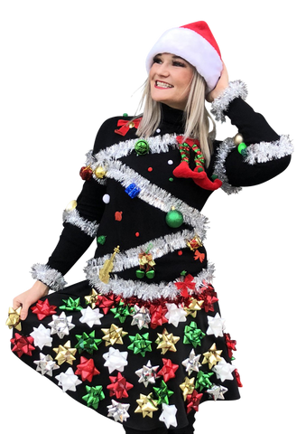 Christmas Bow Skirt AND Christmas Tree Sweater - In Stock Ships FAST