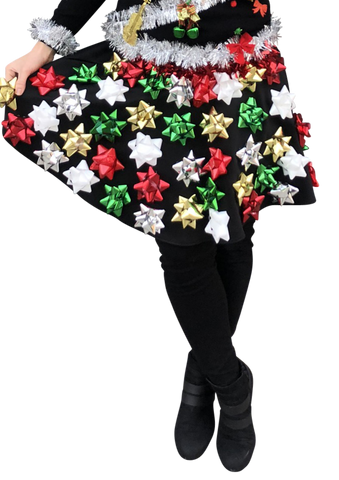 Christmas Bow Skirt - Ugly Christmas Sweater Party