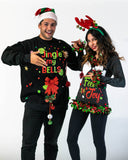 Feel The Joy Sweater,  Womens Ugly Christmas Sweater - Dark Grey