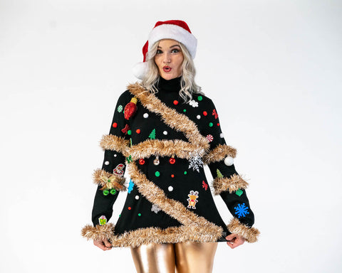 Ugly Christmas Sweater - Christmas Tree Sweater 3D