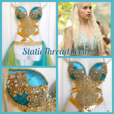 Khaleesi Daneary's Costume Sexy - Rave outfit, Festival Outfit - Game of Thrones Costume, festival outfit, cosplay