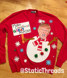 Ugly Christmas Sweater / Sweatshirt Donald Trump Sweater / Ugly Christmas Sweater Party / Make Christmas Great Again Sweater