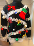 Ugly Christmas Sweater, Christmas Tree Sweater, Womens Ugly Christmas Sweater