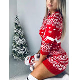 Womens Christmas Sweater Dress