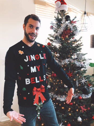 Mens Jingle My Bells Sweater | Ugly Christmas Sweater