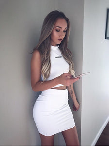 White Carte Blanche Pencil Skirt