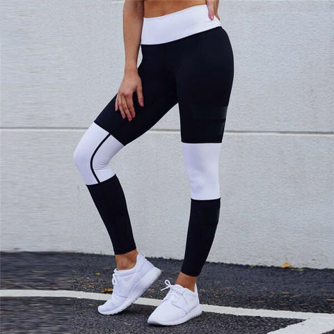B&W High Waisted  Sports Leggins