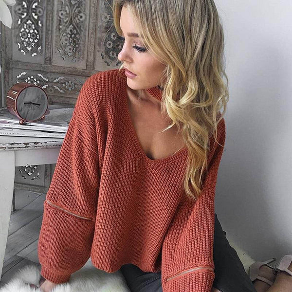 Toplook Knitted Zipper Sweater